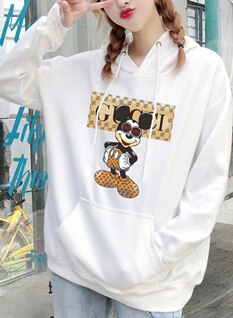 Letter printed ladies sweater