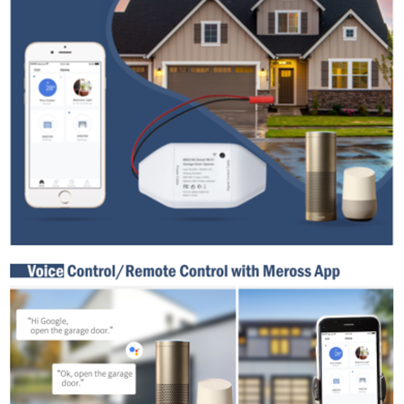 Meross Wi-Fi Smart Garage Door Opener
