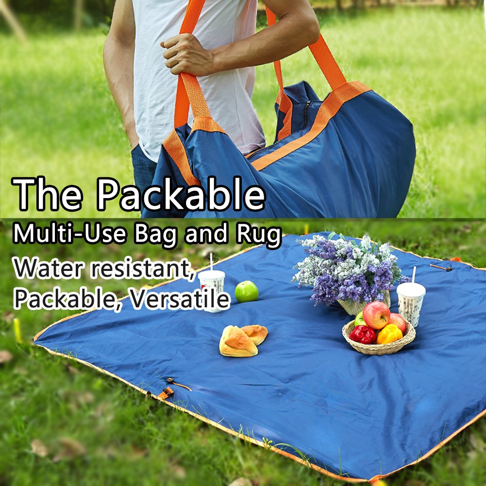 Multifunctional Oxford cloth travel bag portable picnic bag waterproof insect-proof sand folding seat bag carpet