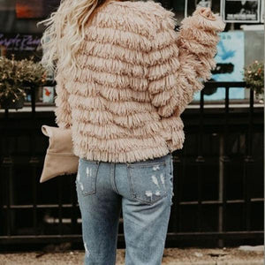 Cozy Solid Downy Short Warm Winter Cardigan Outerwear Coat