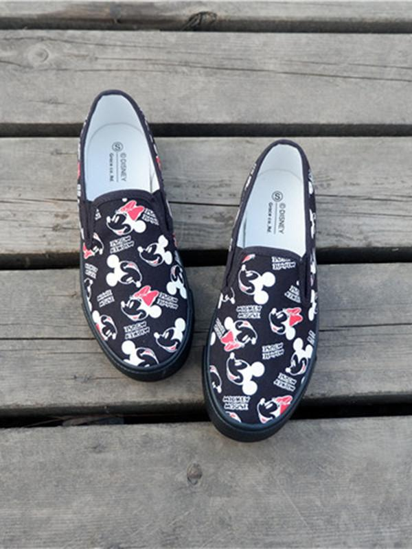 Cute fresh printed loafers shoes
