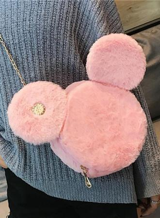 plush cute small bag