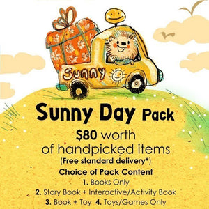 Woods in the Books Sunbeams Surprise Sunny Day Pack illustration by Moof