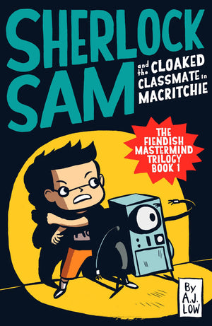 Cover of chapter book 'Sherlock Sam and the Cloaked Classmate in MacRitchie' by A. J. Low and Drewscape