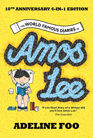 Cover of chapter book 'The World Famous Diaries of Amos Lee (Omnibus)' by Adeline Foo and Stephanie Wong
