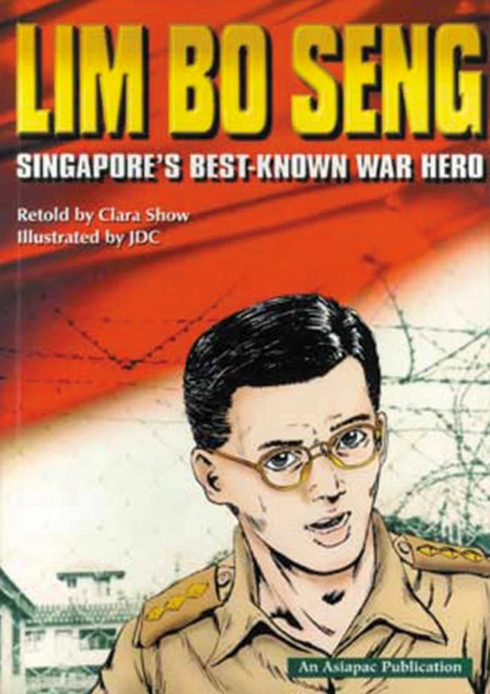 Cover for graphic novel 'Lim Bo Seng: Singapore's Best-Known War Hero' by Clara Show and JDC