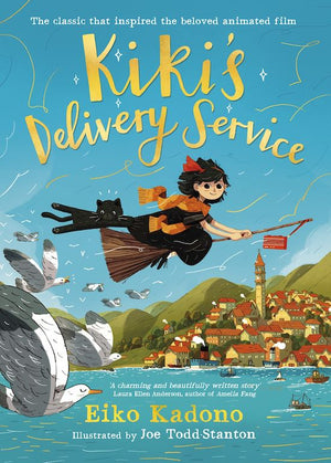 Cover of chapter book 'Kiki's Delivery Service' by Eiko Kadono and Joe Todd Stanton