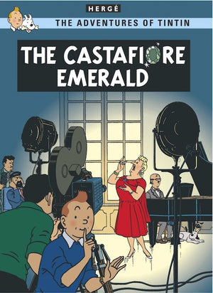 Cover of graphic novel 'The Adventures of Tintin: The Castafiore Emerald' by Hergé