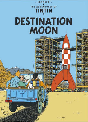 Cover of graphic novel 'The Adventures of Tintin: Destination Moon' by Hergé