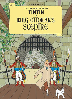 Cover of graphic novel 'The Adventures of Tintin: King Ottokar's Sceptre' by Hergé