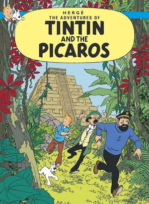 Cover of graphic novel 'The Adventures of Tintin: Tintin and the Picaros' by Hergé
