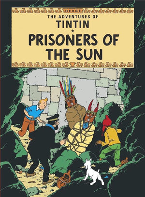 Cover of graphic novel 'The Adventures of Tintin: Prisoners of the Sun' by Hergé