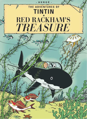 Cover of graphic novel 'The Adventures of Tintin: Red Rackham's Treasure' by Hergé