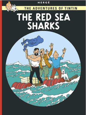 Cover of graphic novel 'The Adventures of Tintin: The Red Sea Sharks' by Hergé