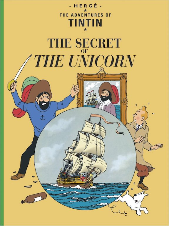 Cover of graphic novel 'The Adventures of Tintin: The Secret of the Unicorn' by Hergé