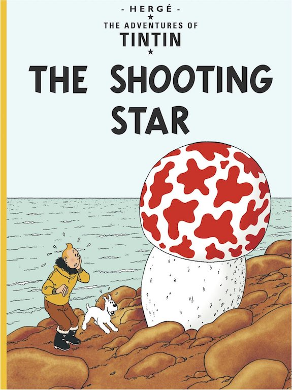 Cover of graphic novel 'The Adventures of Tintin: The Shooting Star' by Hergé