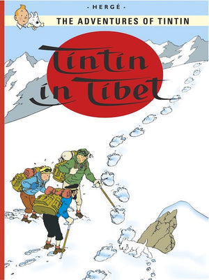 Cover of graphic novel 'The Adventures of Tintin: Tintin in Tibet' by Hergé