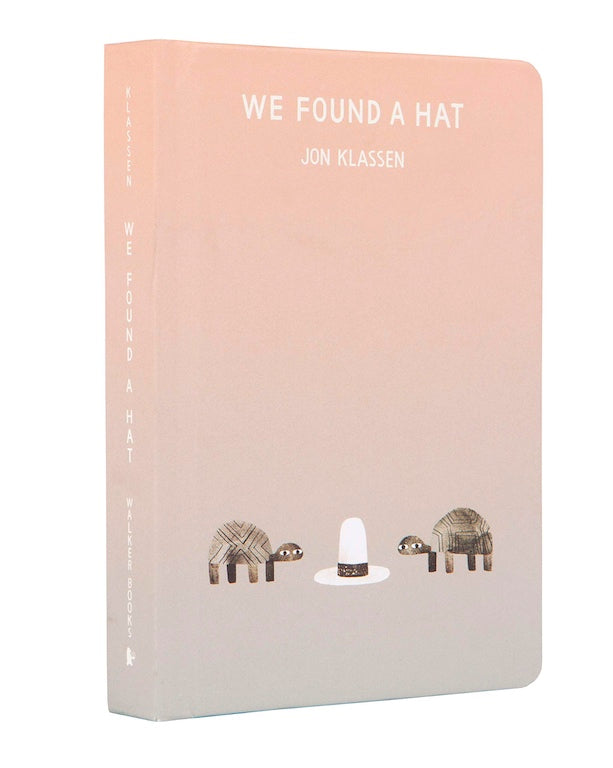 Cover of board book 'We Found a Hat' by Jon Klassen