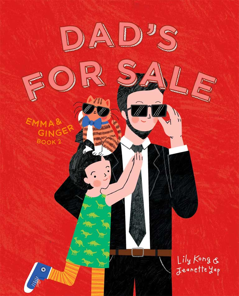 Cover of picture book 'Dad's for Sale' by Lily Kong and Jeanette Yap