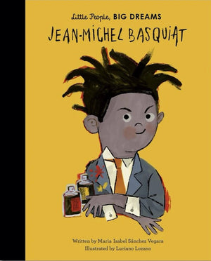 Cover of picture book 'Little People, BIG DREAMS: Jean-Michel Basquiat' by Maria Isabel Sanchez Vegara and Luciano Lozano