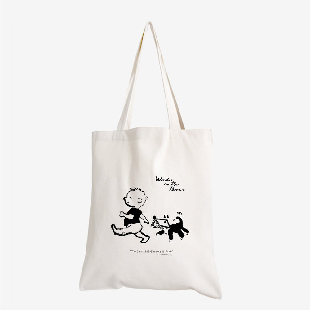 Woods in the Books 'Loyal Friend' tote bag illustrated by Moof
