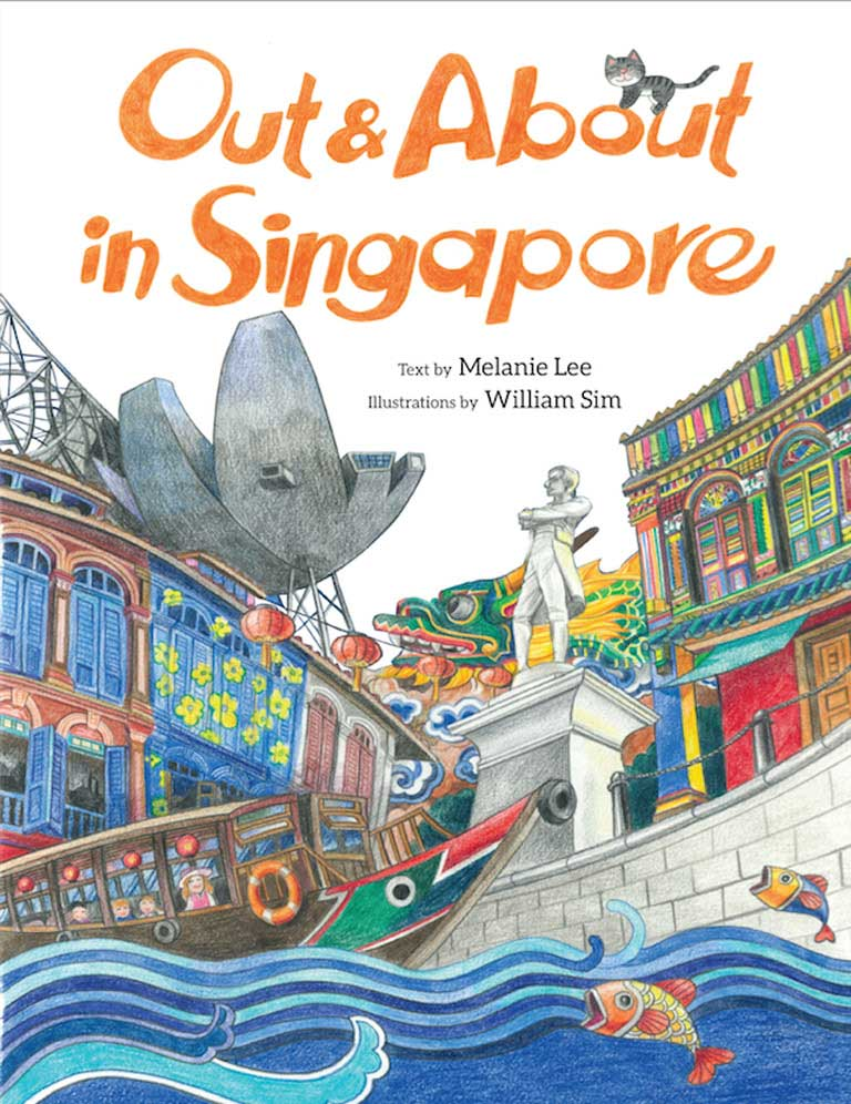 Cover of non-fiction book 'Out & About in Singapore' by Melanie Lee and William Sim