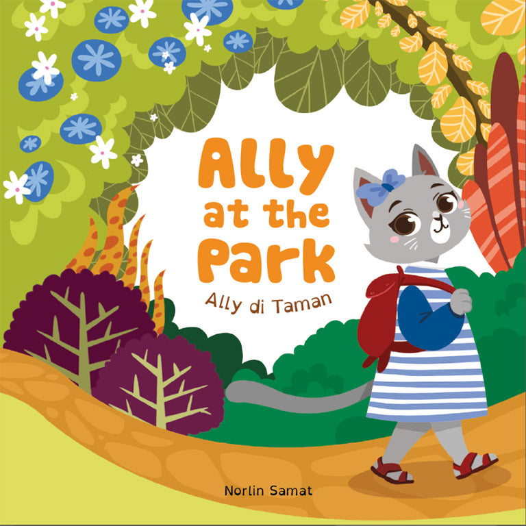 Cover of board book 'Ally at the Park | Ally di Taman' by Norlin Samat