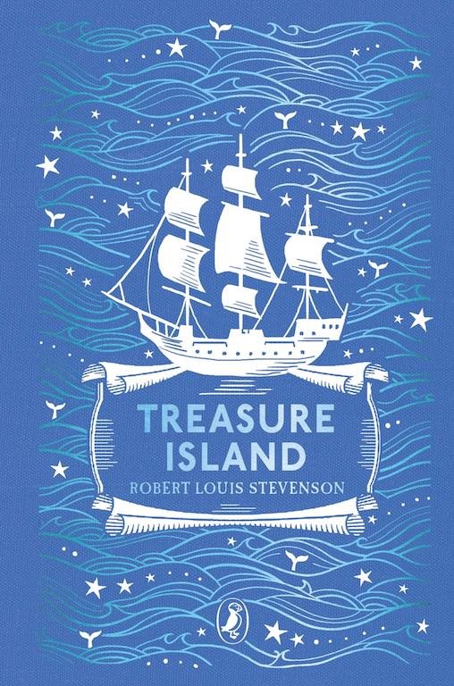 Cover of Puffin Clothbound Classics edition of 'Treasure Island' by Robert Louis Stevenson