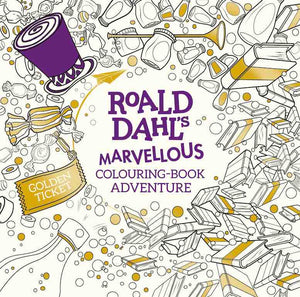 Cover of activity book 'Roald Dahl's Marvellous Colouring Book Adventure'