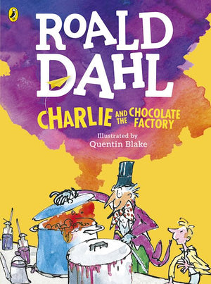 Cover of chapter book 'Charlie and the Chocolate Factory' by Roald Dahl and Quentin Blake