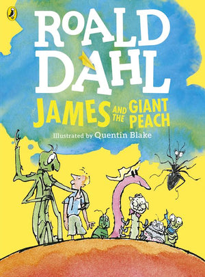 Cover of chapter book 'James and the Giant Peach' by Roald Dahl and Quentin Blake