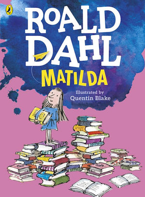 Cover of chapter book 'Matilda' by Roald Dahl and Quentin Blake