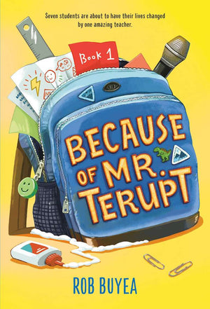 Cover of middle grade book 'Because of Mr. Terupt' by Rob Buyea