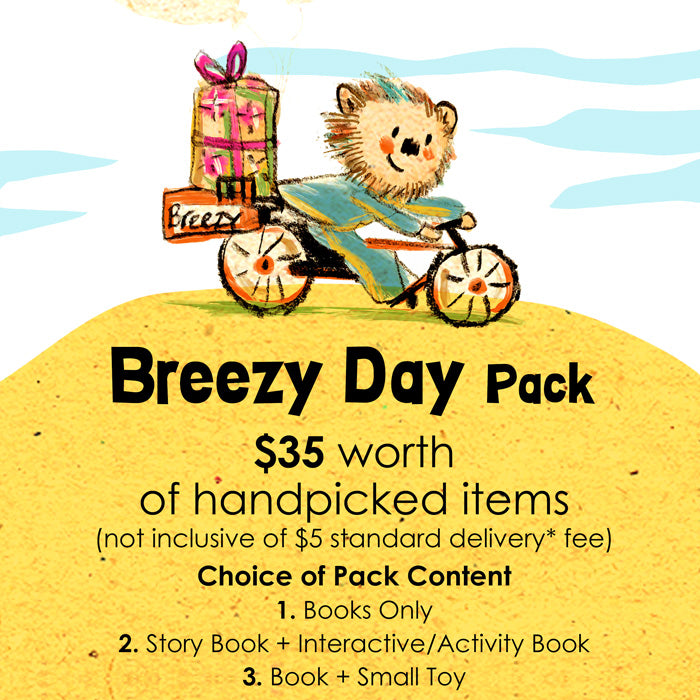Woods in the Books Sunbeams Surprise Breezy Day Pack illustration by Moof