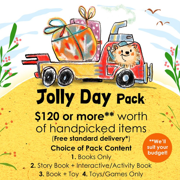 Woods in the Books Sunbeams Surprise Jolly Day Pack illustration by Moof