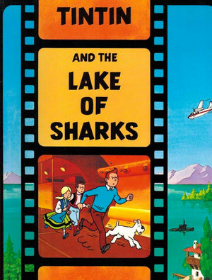 Cover of graphic novel 'Tintin and the Lake of Sharks'