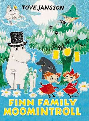 Cover of chapter book 'Finn Family Moomintroll' by Tove Jansson