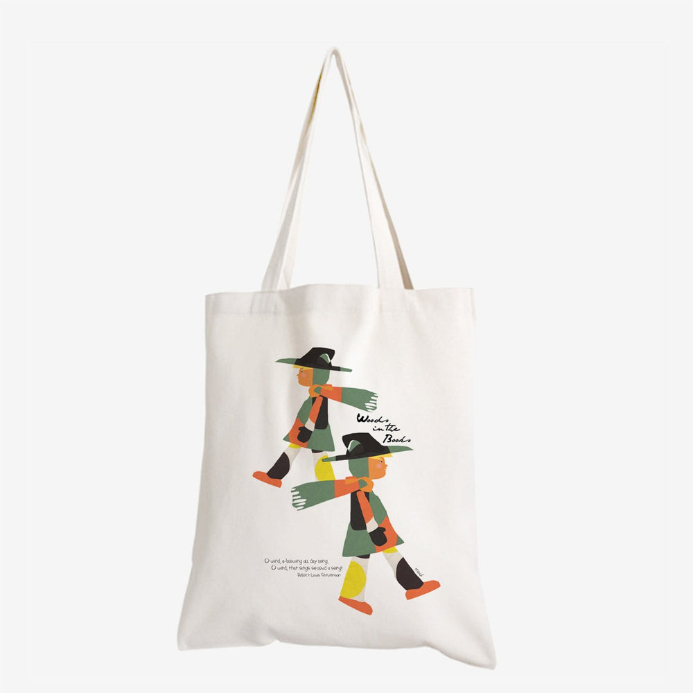 Woods in the Books 'O Wind' tote bag illustrated by Moof