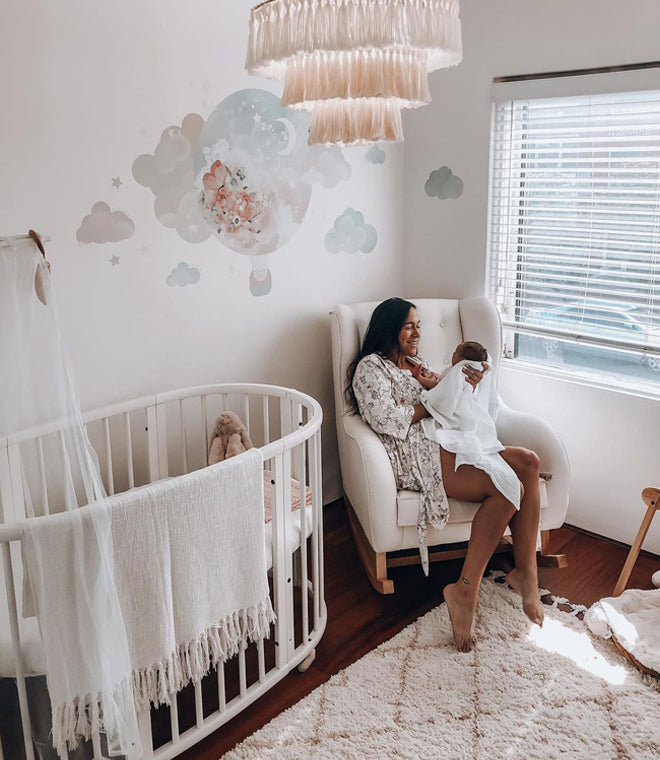 dreamy baby girl nursery white cot