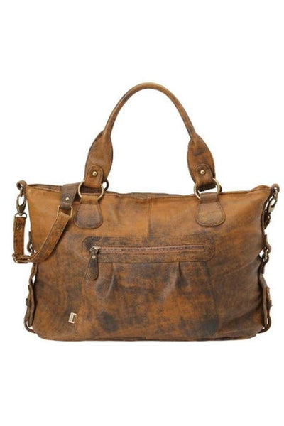 OiOi Tote Tote Slouch Nappy Bag - Tan Jungle Leather (6474)