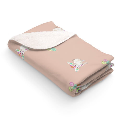 Chihuaha Crown Sherpa Fleece Blanket