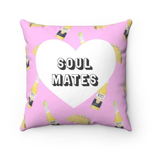 Soul Mates Square Pillow