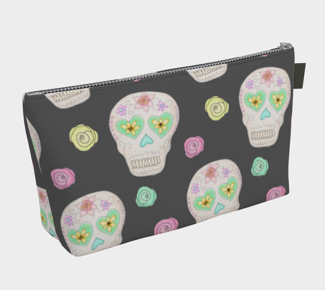 Black Sugar Skulls + Roses Carryall Bag