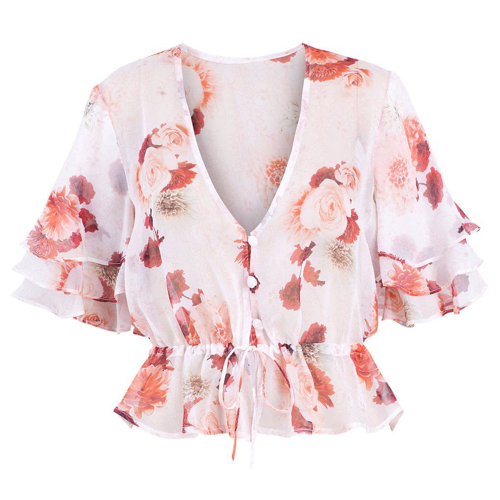 Secret Garden Tiered Sleeve Blouse