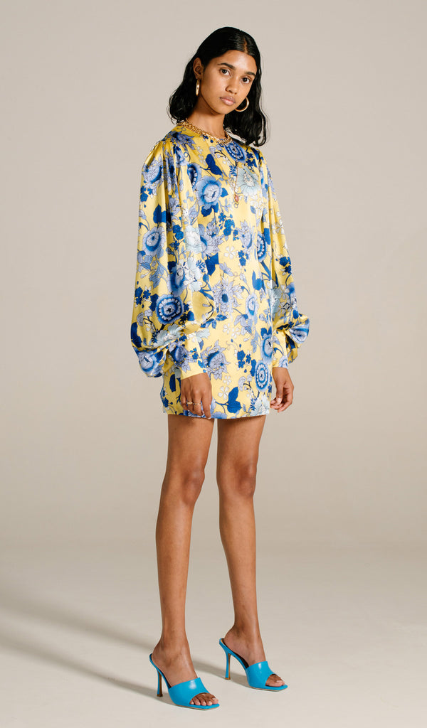 Cornflower Long Sleeve Mini Dress