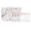 Image of Marble Handle Rose Gold Brush Set