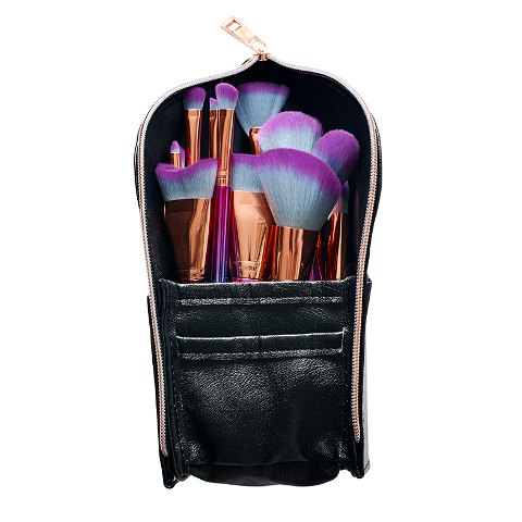 Professional Brush Set - 12-Piece Bright Brush Set With Stand-Up Pouch