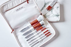 Marble Handle Rose Gold Brush Set