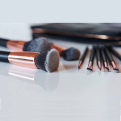 Rose Gold Premium Makeup Brush Set