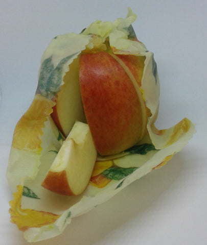 Apple wrapped with Beeswax wraps